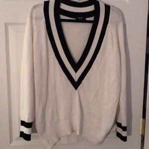 Nasty Gal deep v sweater